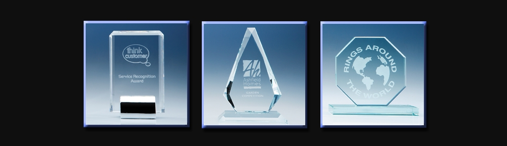 etched crystal glassware award styles
